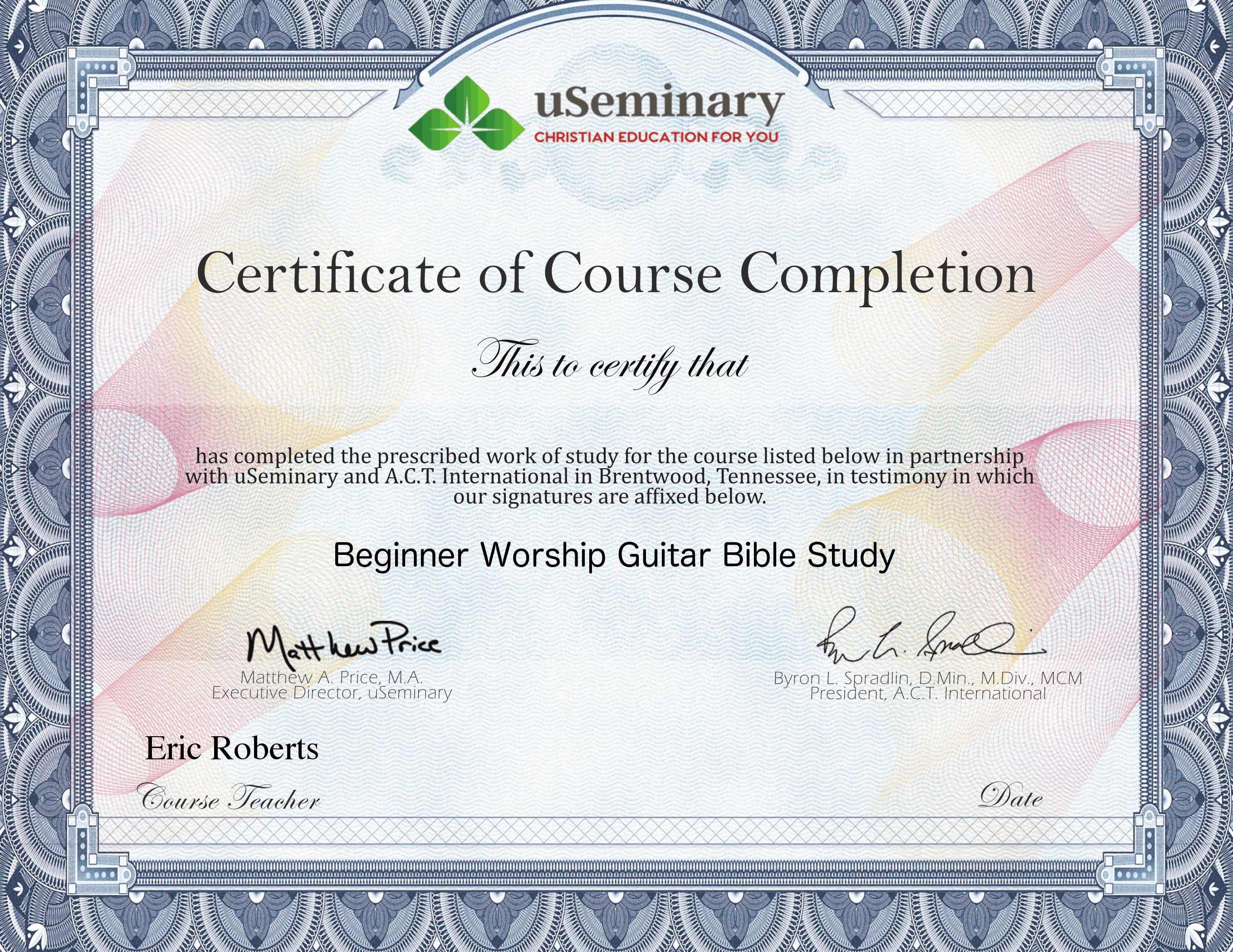 Course Certificate